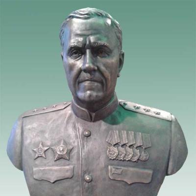 Бронзовый бюст генерала И.Г. Захаркина