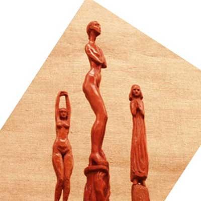 Сульптурные миниатюры из дерева