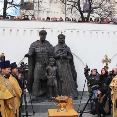 Открытие памятника  Евфросинии и  Великому Князю Московскому Димитрию Донскому