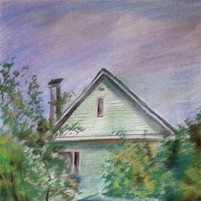 Картина «Дача. Знойный полдень.»