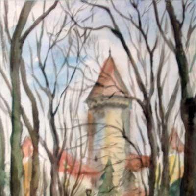 Картина «Замок Конопиште»