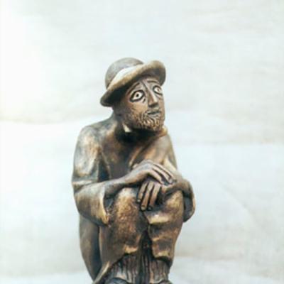 Старый еврей  скульптура