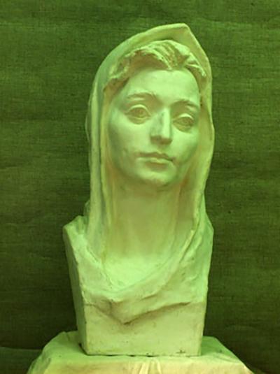 Эскиз головы  девы Марии