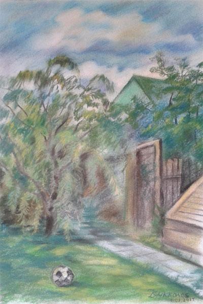 Картина «Летний вечер на даче»