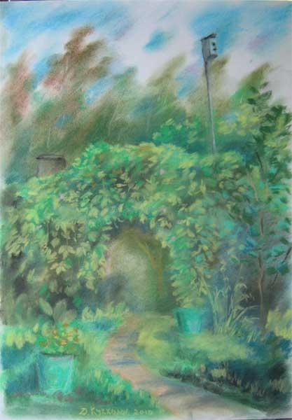 Арка, увитая диким виноградом
