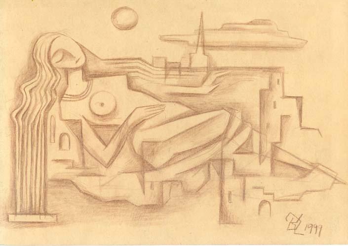 Графическая работа «Урбанистический сон»