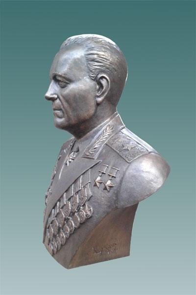 Бронзовый бюст Маршала бронетанковых войск М.Е. Катукова