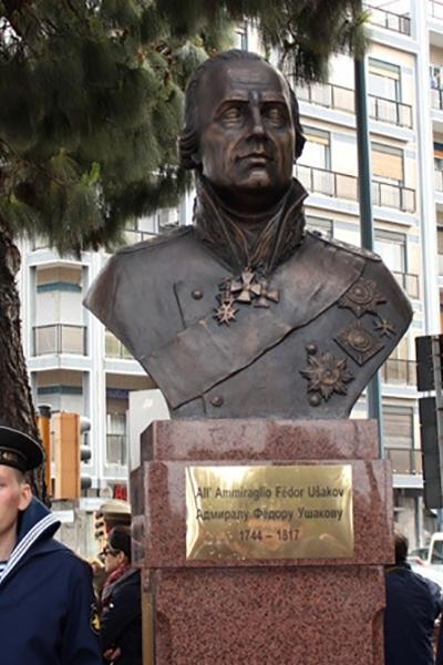Открытие памятника Ф.Ф. Ушакову в Италии