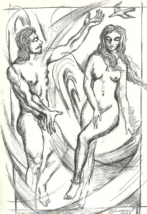 Графическая работа «Поэт и Муза»