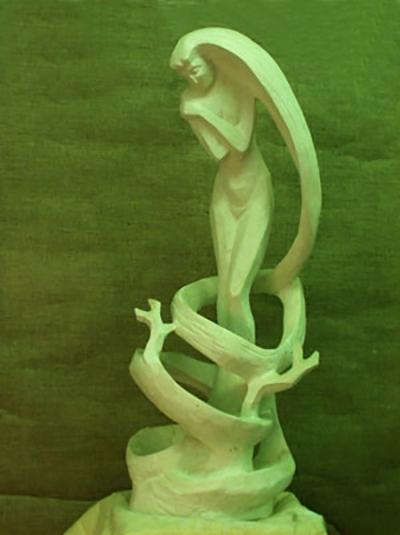 Зима  скульптура