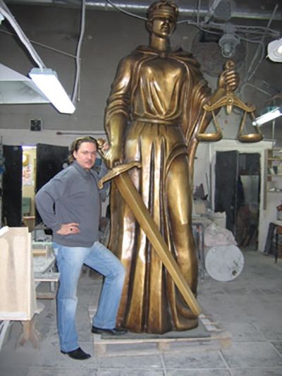 скульптура Фемида  для дворца правосудия  в г. Тамбове
